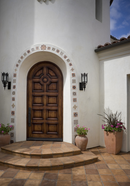 Beau Solid Wood Doors. Mediterranean Entry